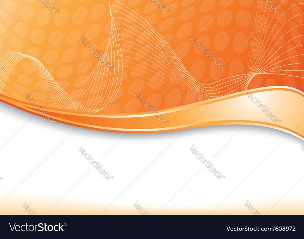 Orange card with wave