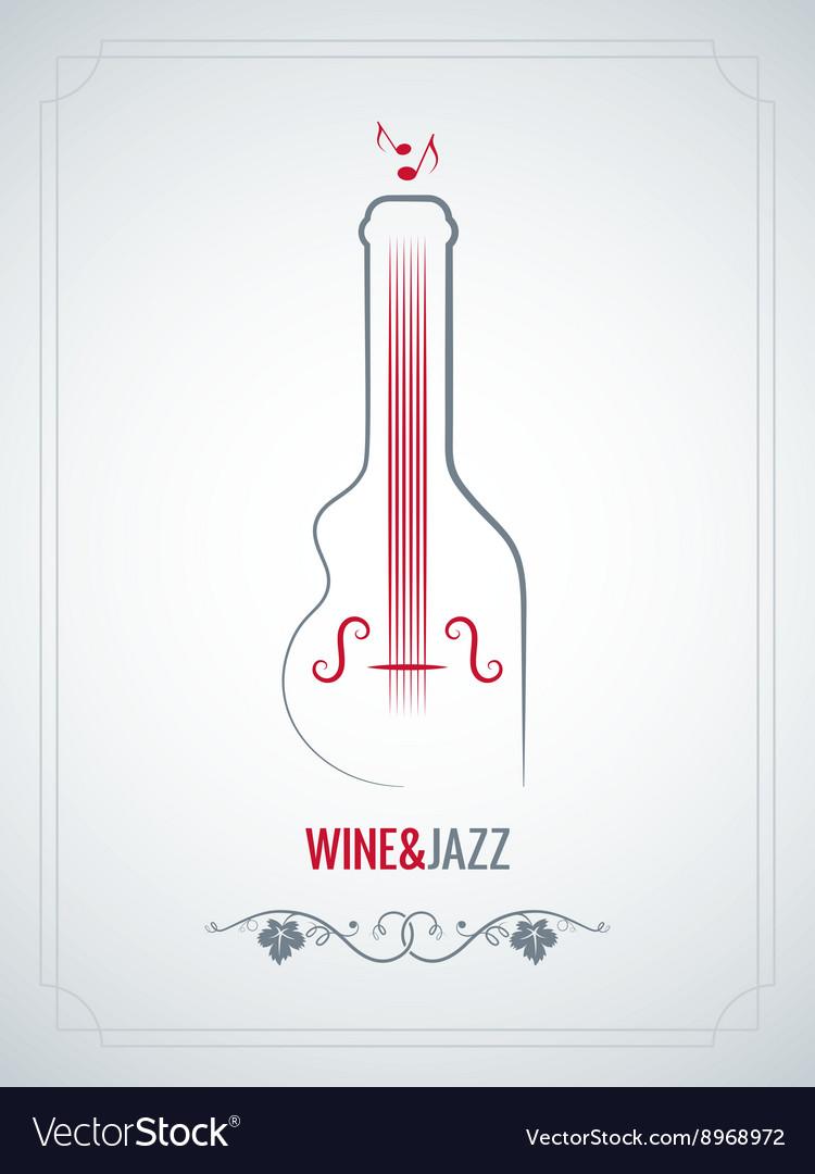 Wine bottle jazz design background