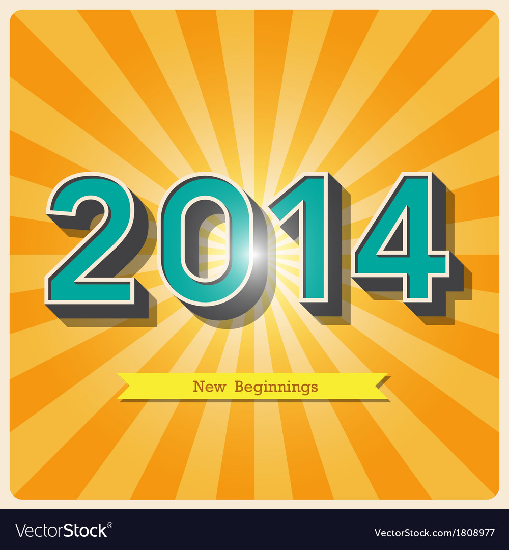 2014 retro poster EPS10