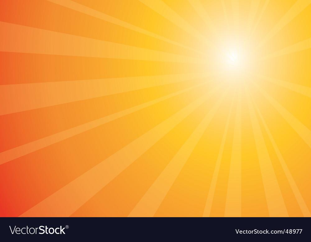 Beautiful sunburst vector image