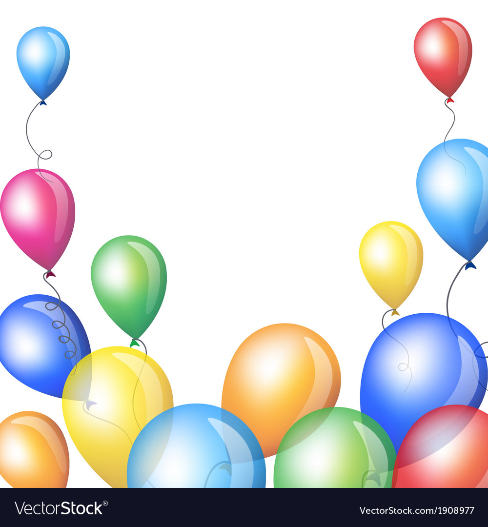 Holiday backgrounds with balloons frame vector image