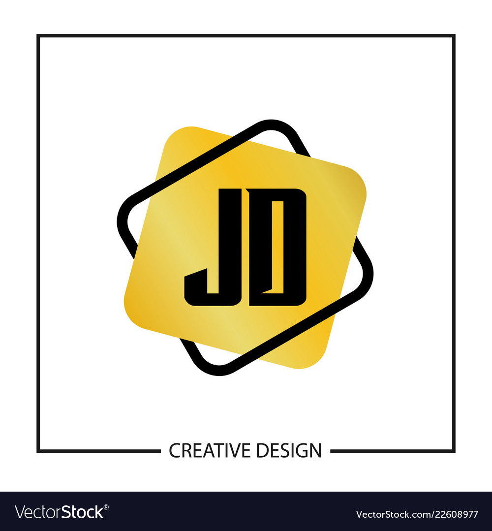 initial jd letter logo template design royalty free vector vectorstock