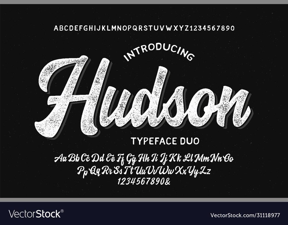 Original brush script font retro typeface