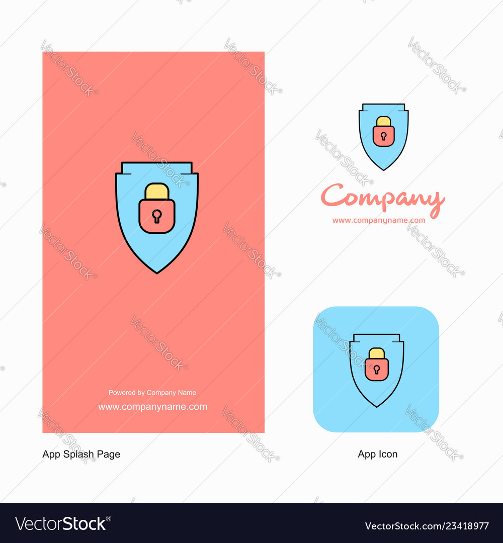 Protected Shield Company Logo App Icon And Splash Vector Image