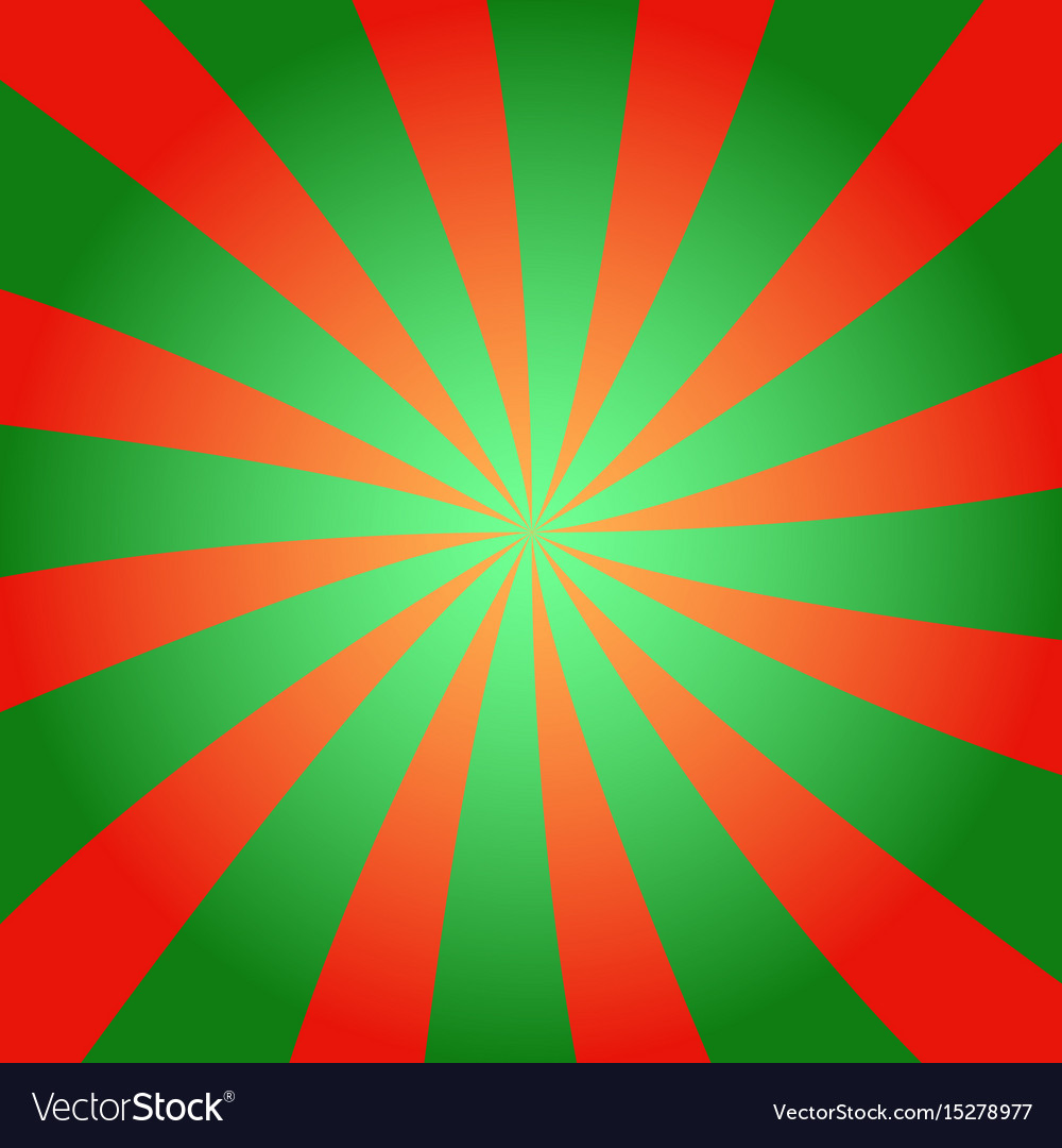 Red and green sunburst background