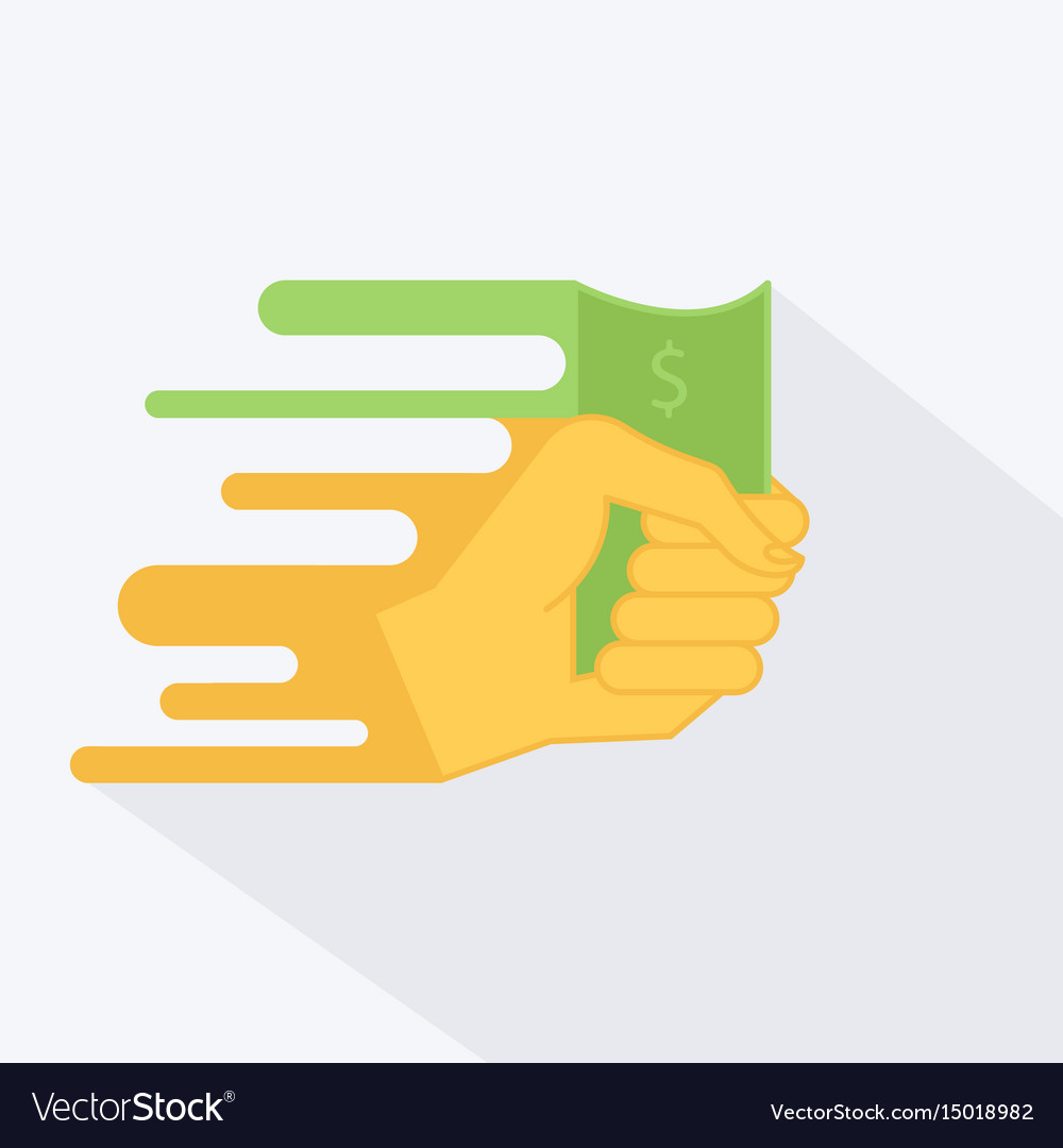 A hand with money or dollar