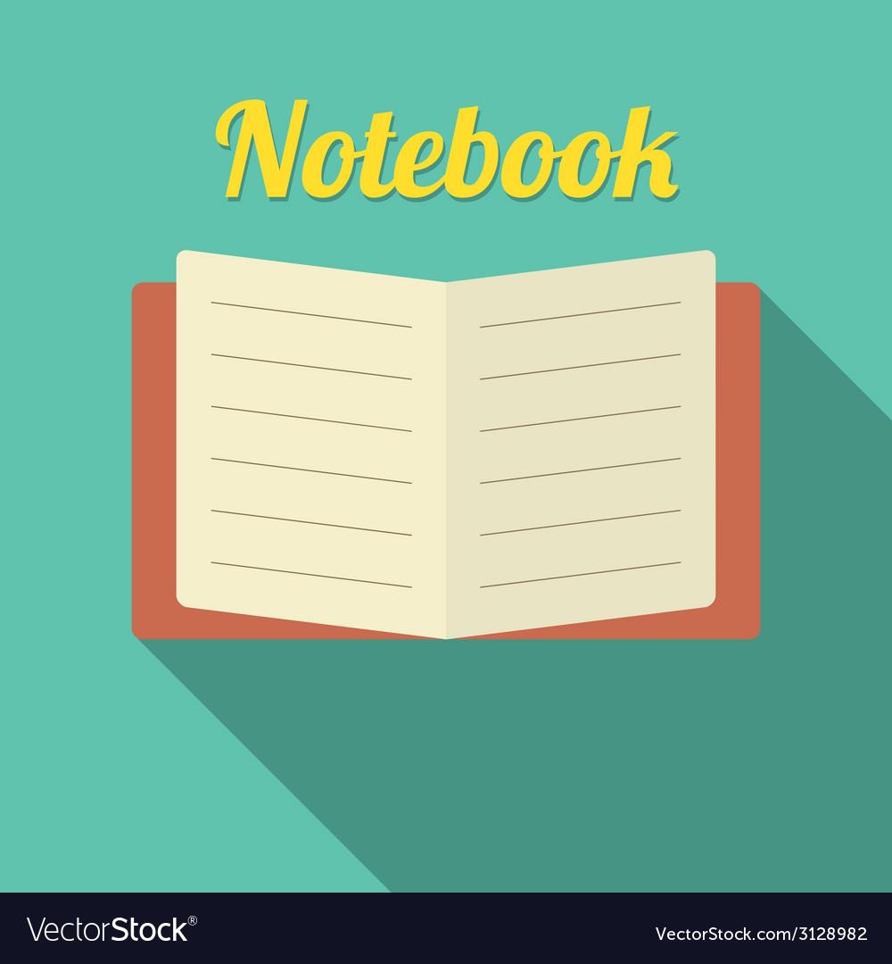 Flat Design Blank Notebook