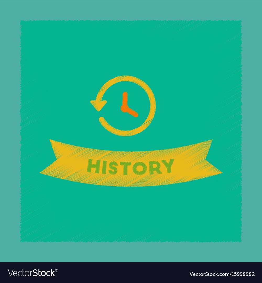 Flat shading style icon history lesson vector image