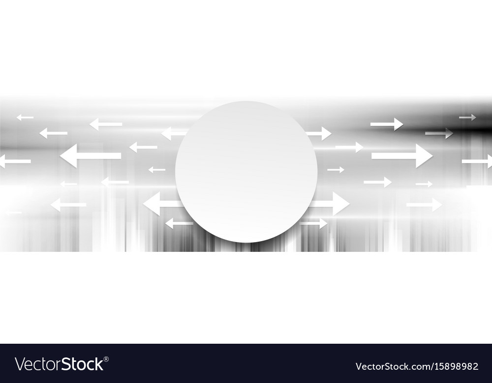 Grey abstract tech banner background vector image
