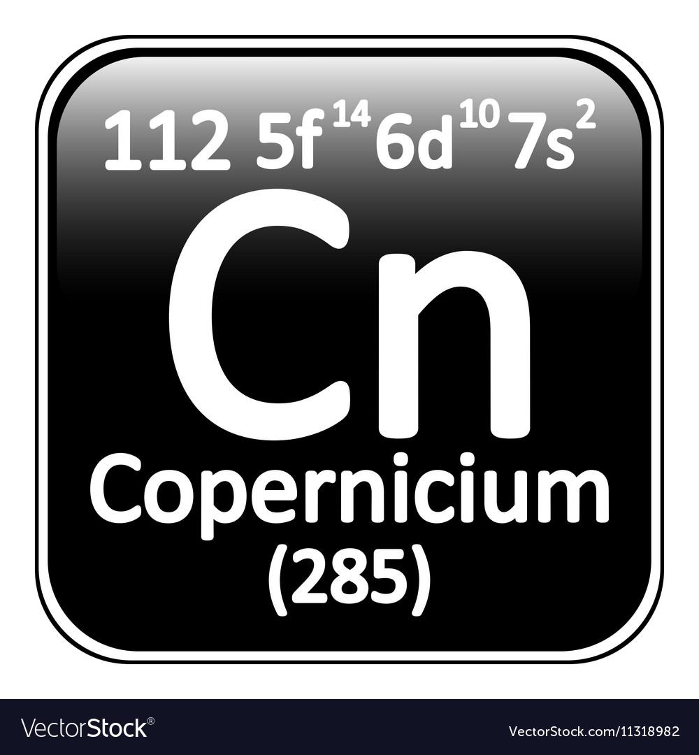 Periodic table element copernicium icon