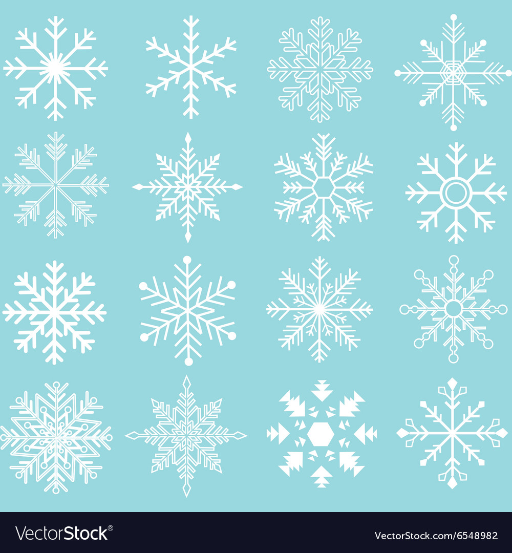 Snowflakes silhouette collections