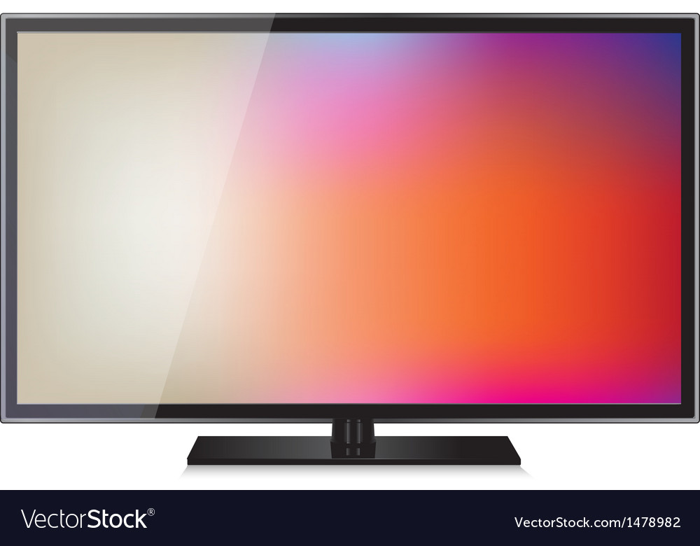 TV flat screen lcd plasma realistic
