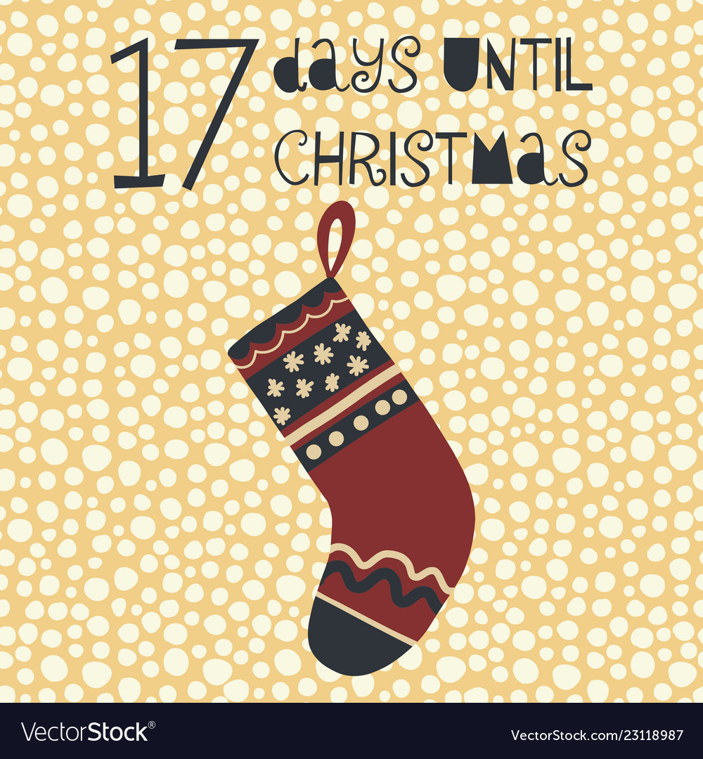 17 days until christmas Royalty Free