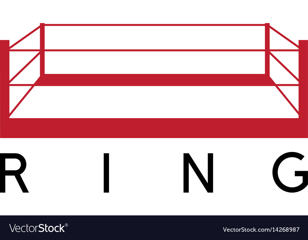 Box fight club ring design template Royalty Free Vector