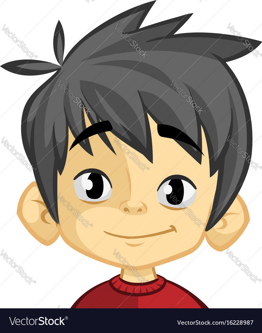 Cartoon funny boy head