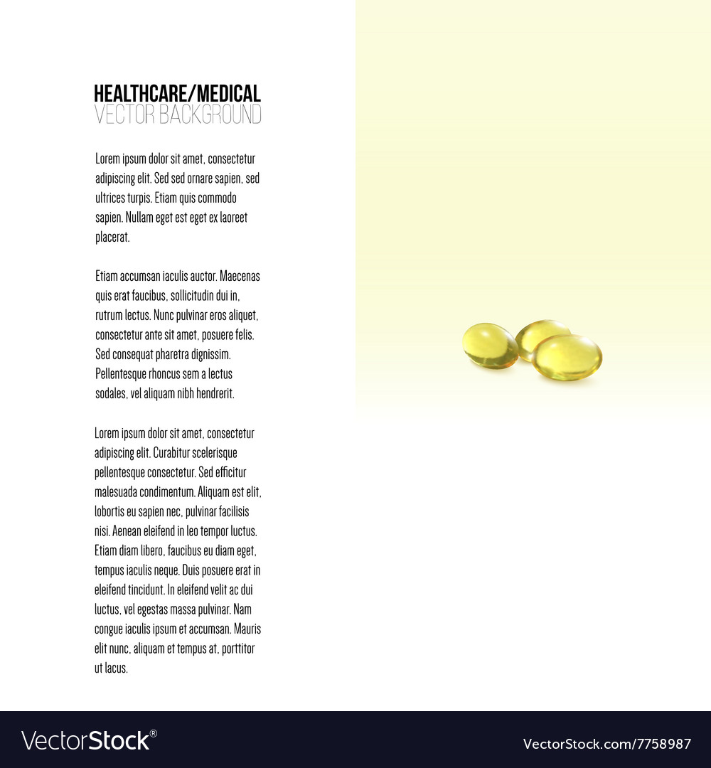 Fish oil pills isolated on yellow background