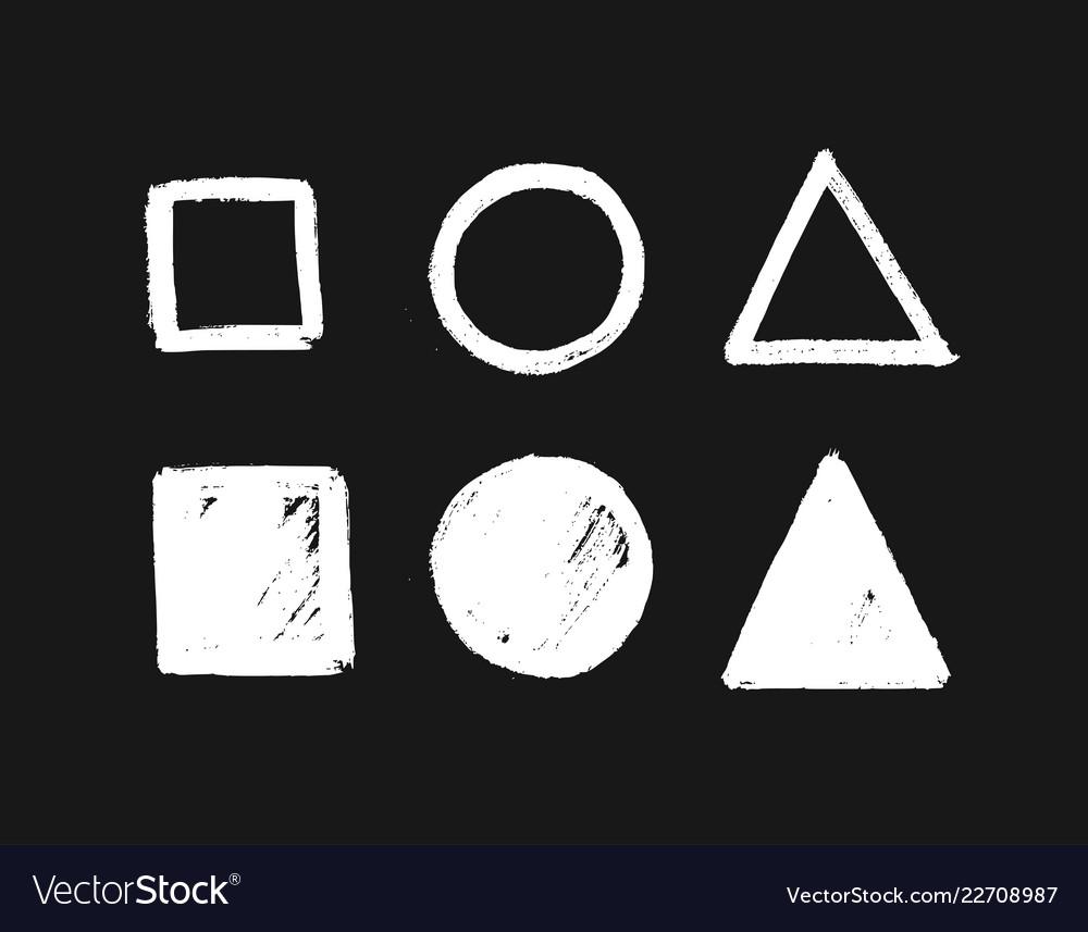 Geometric shapes set hand drawn