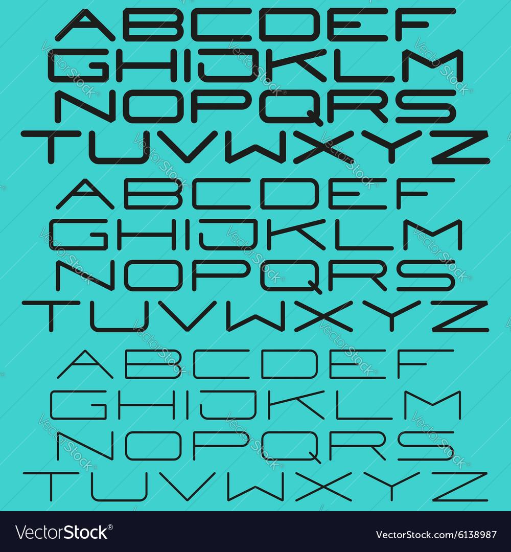 Modern simple font sans-serif light and bold type