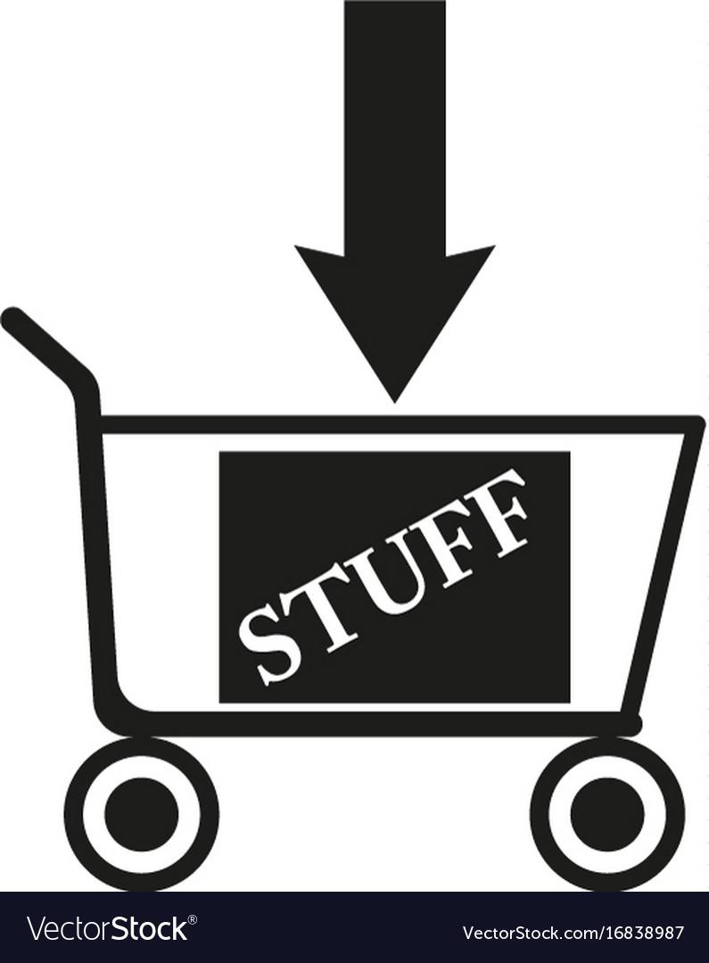 Shopping cart sign black