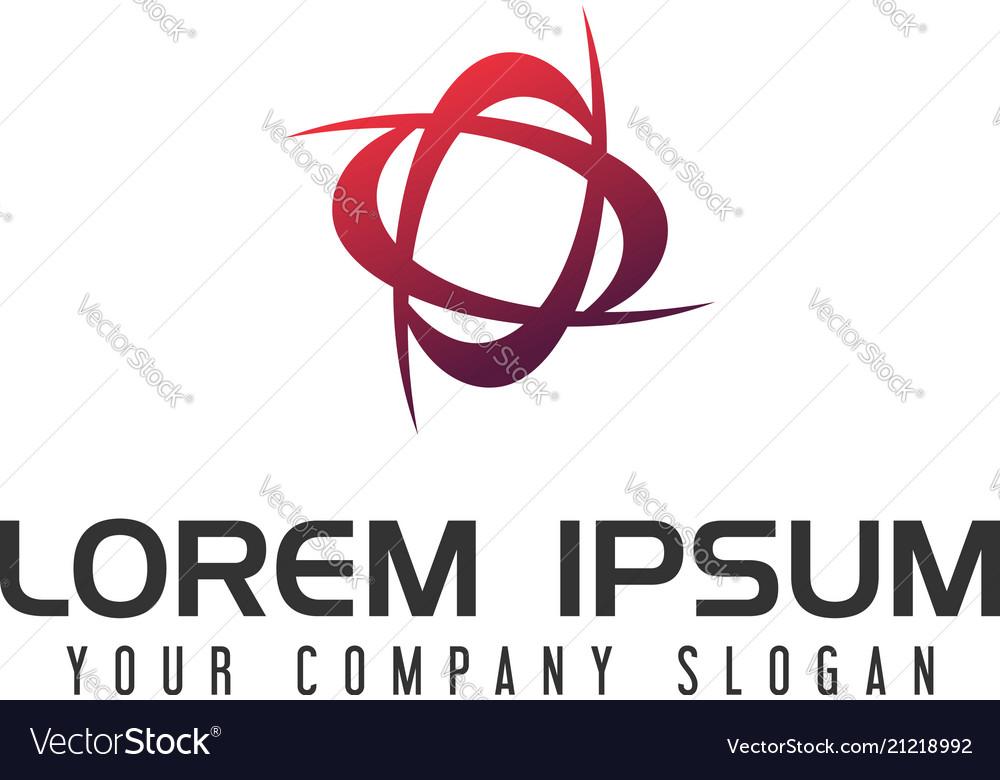 Abstract technology logo design concept template