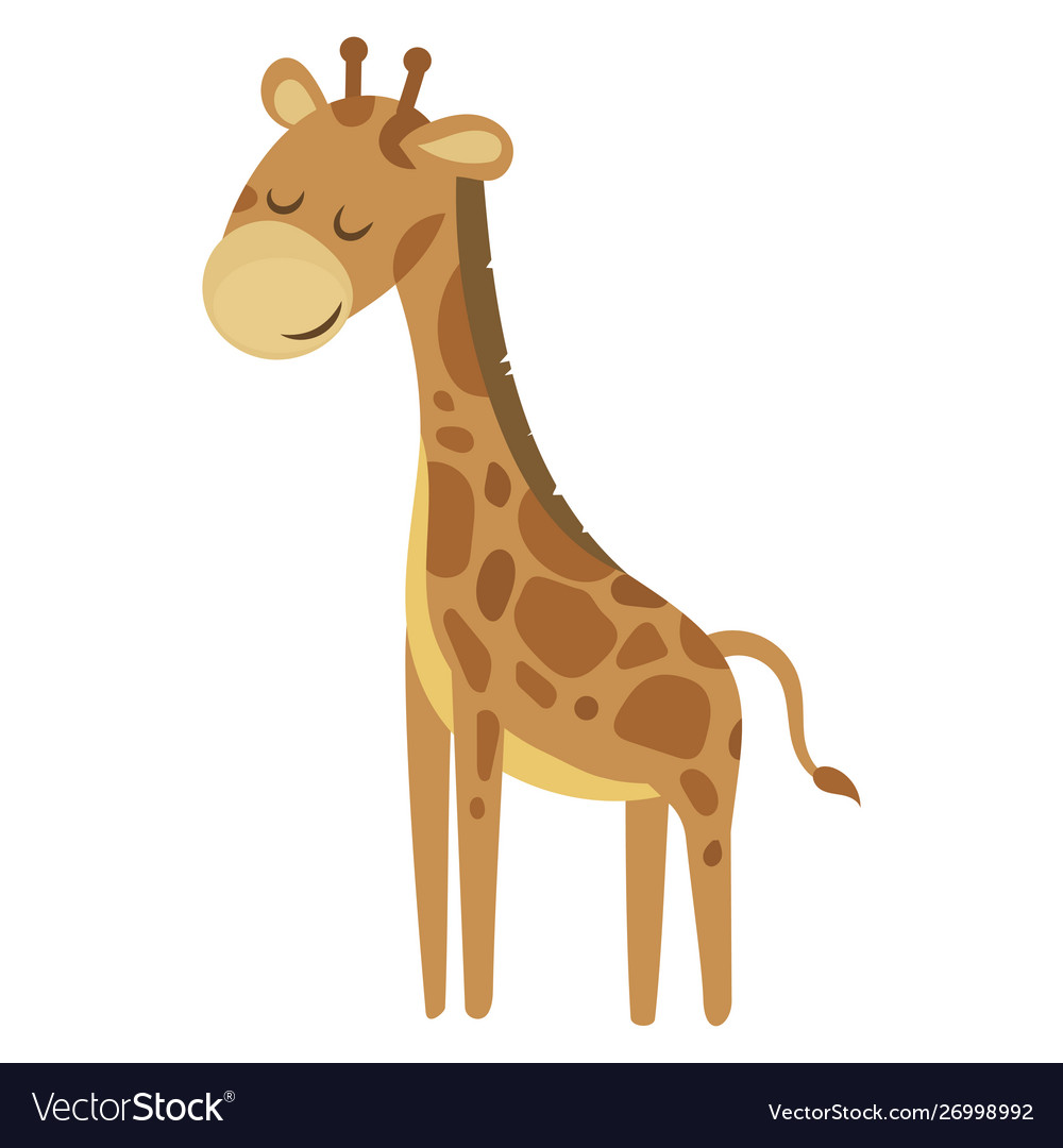 Cartoon giraffe a cute