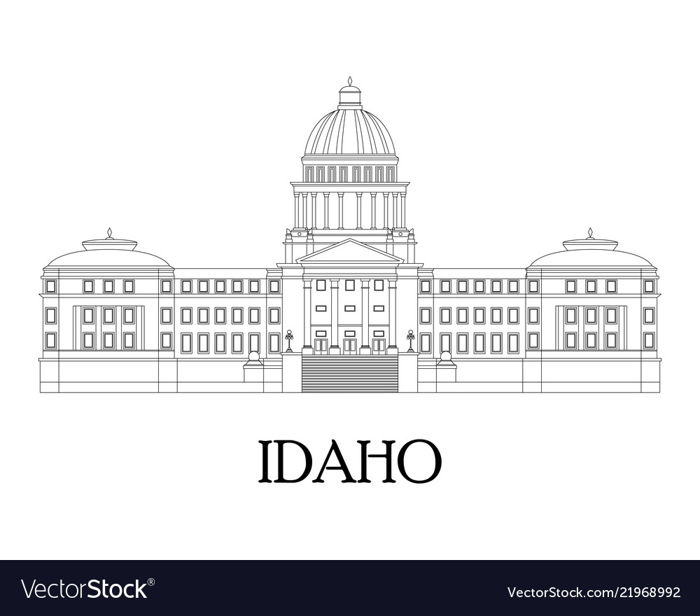 Flat of the idaho state capitol