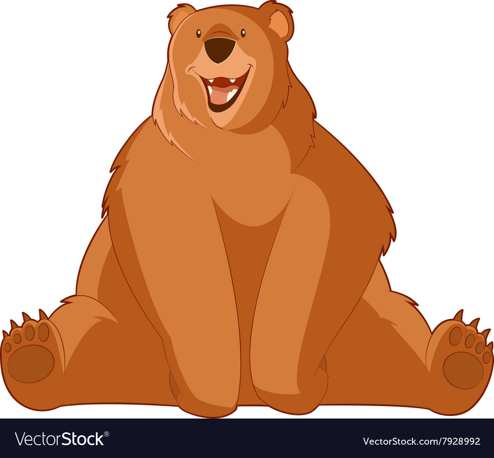 Funny cartoon bear