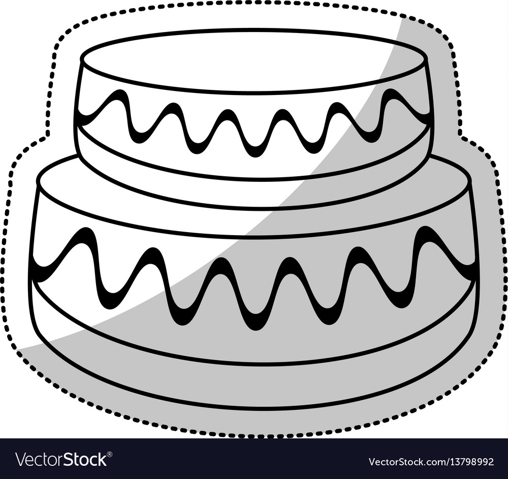 Wedding cake sweet outline