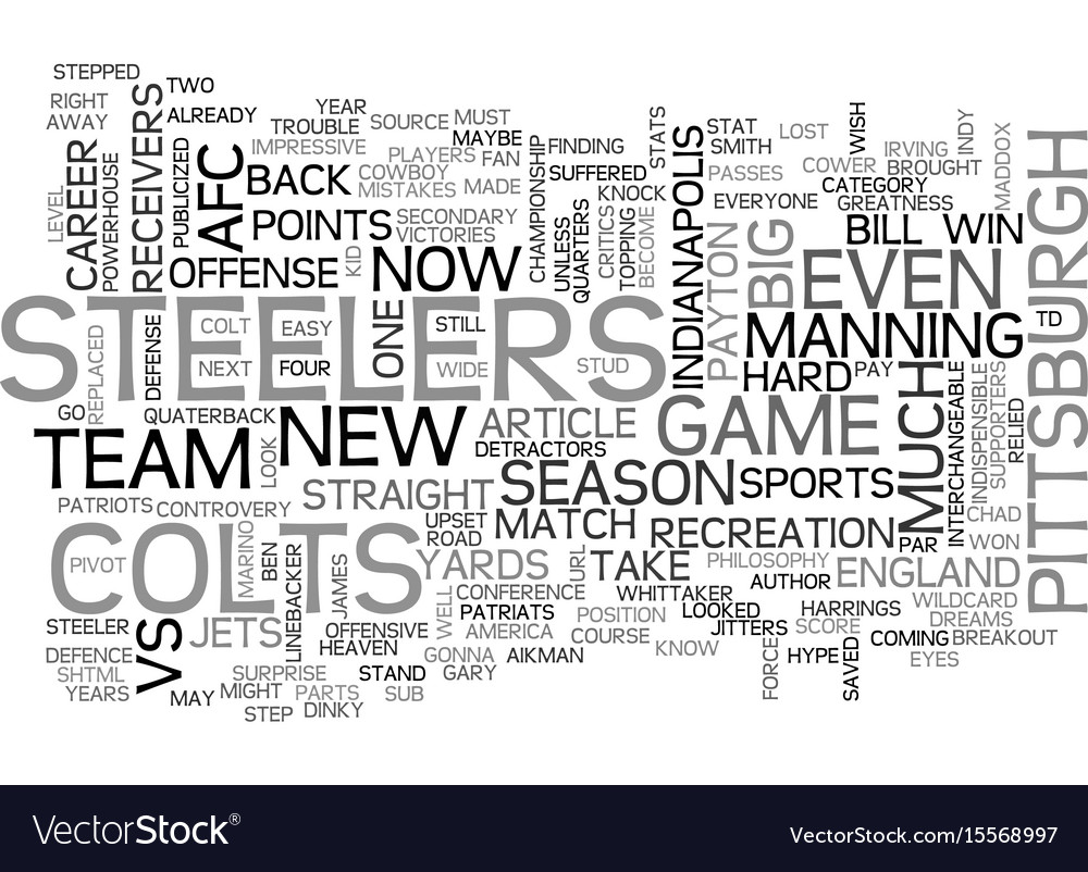 Afc road to the superbowl text word cloud concept