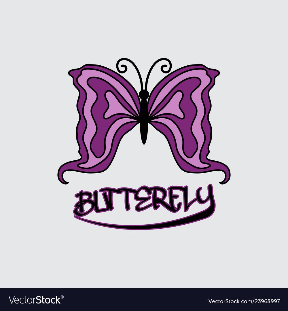 Butterfly beauty business logo