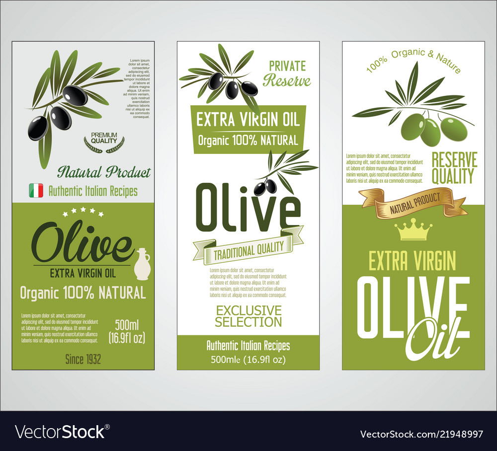 Collection of olive oil labels 02