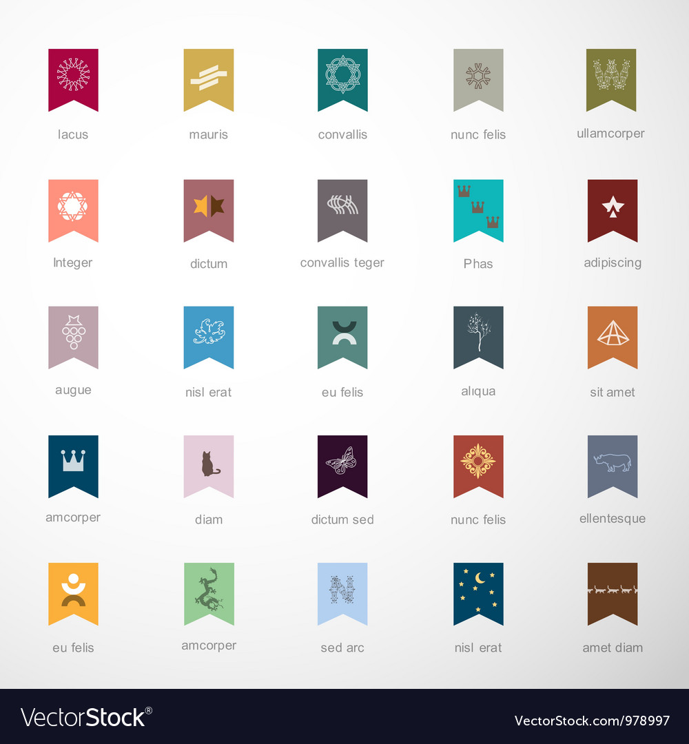 Emblems and elements for design