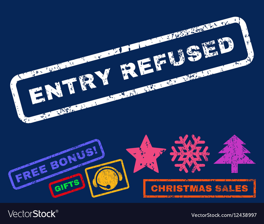 Entry Refused Rubber Stamp