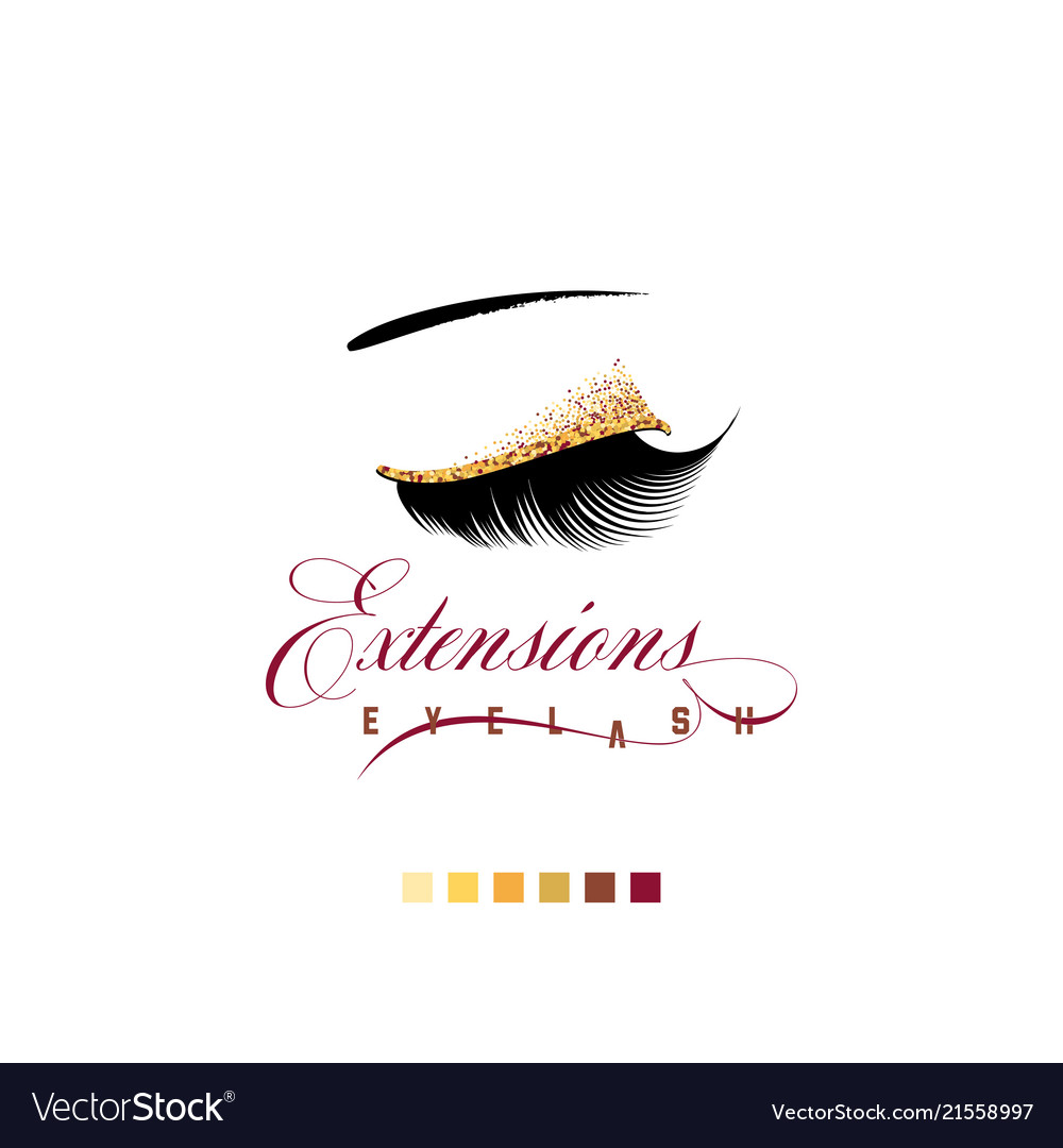 Eyelash extension banner template for makeup and