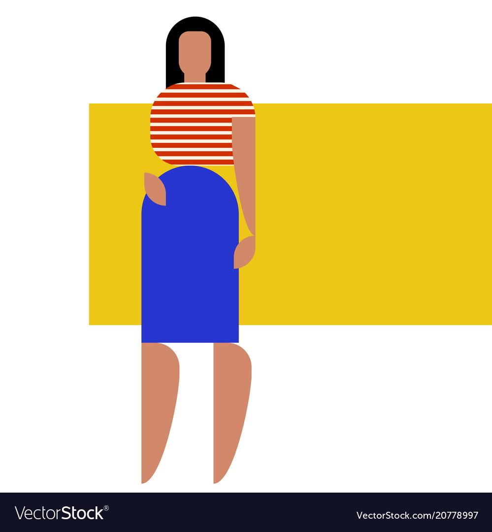 Geometry woman figure