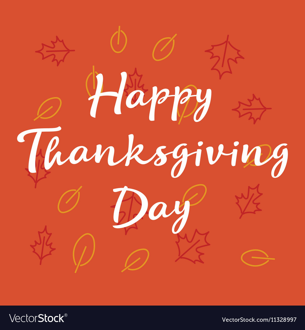 Happy Thanksgiving day greeting card with