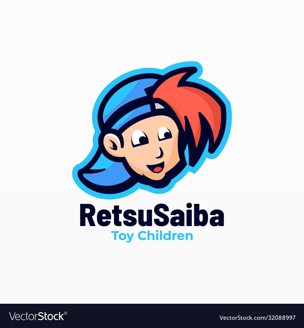 Logo toy children mascot cartoon style