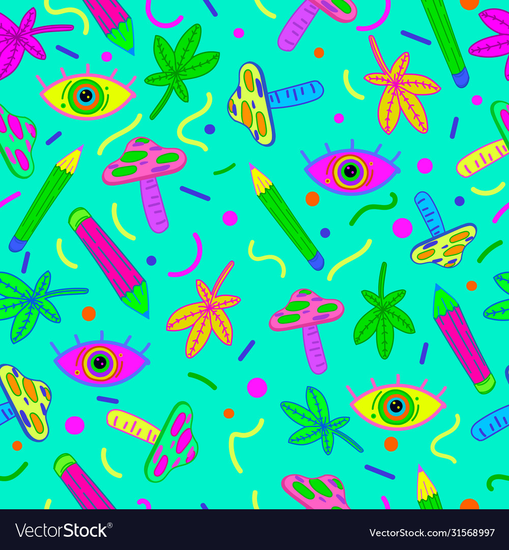 Psychedelic background pattern seamless