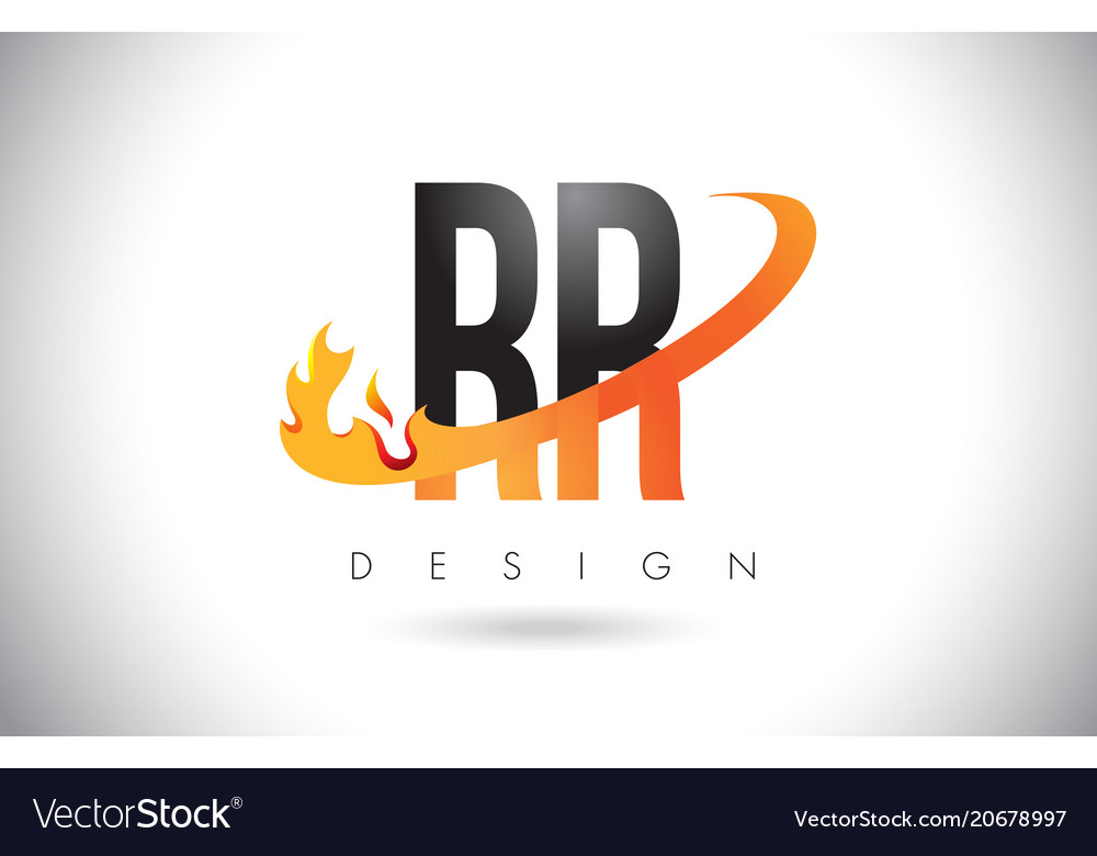Rr r letter logo with fire flames design and vector image altavistaventures Gallery