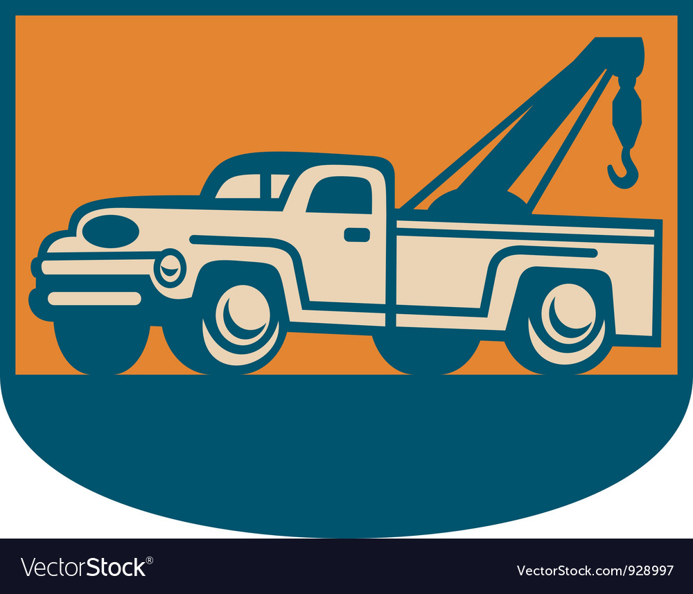 Vintage Tow Wrecker vector image