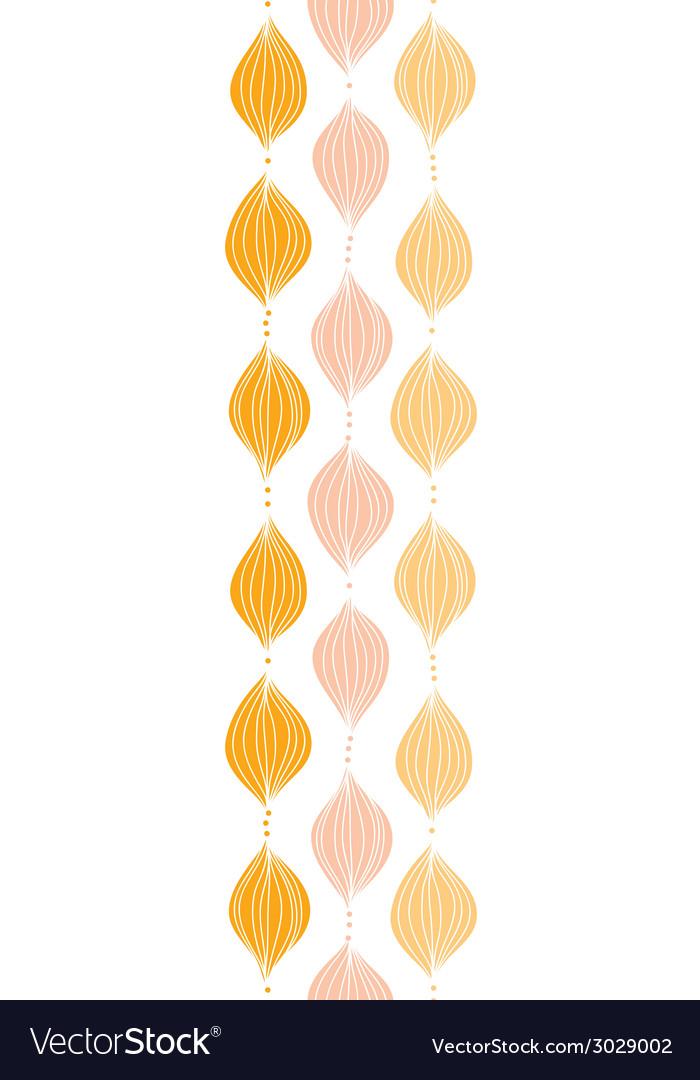 Abstract golden ogee vertical border seamless