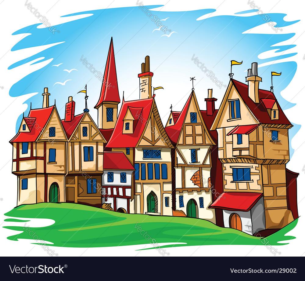 European architecture vector image