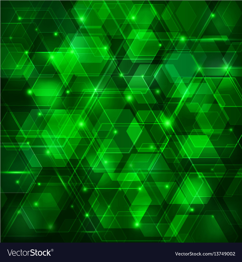Green abstract techno background