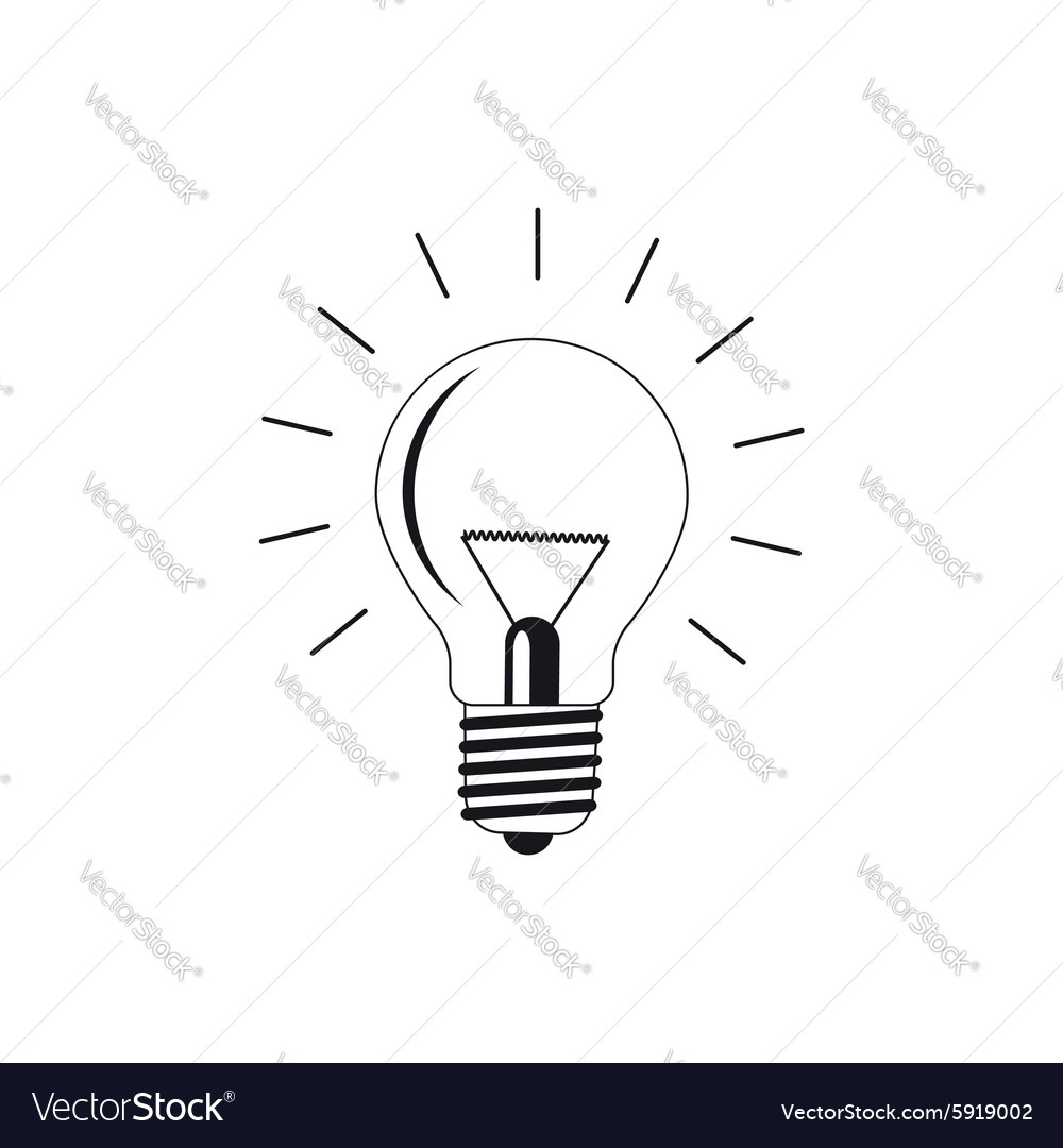 Light bulb silhouettes vector image