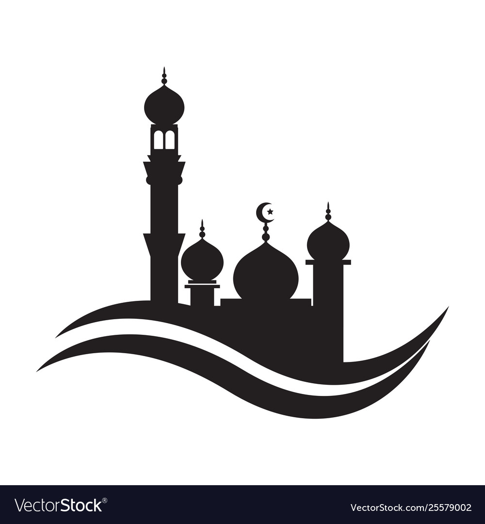 Mosque Icon Design Template Mosque Royalty Free Vector Image