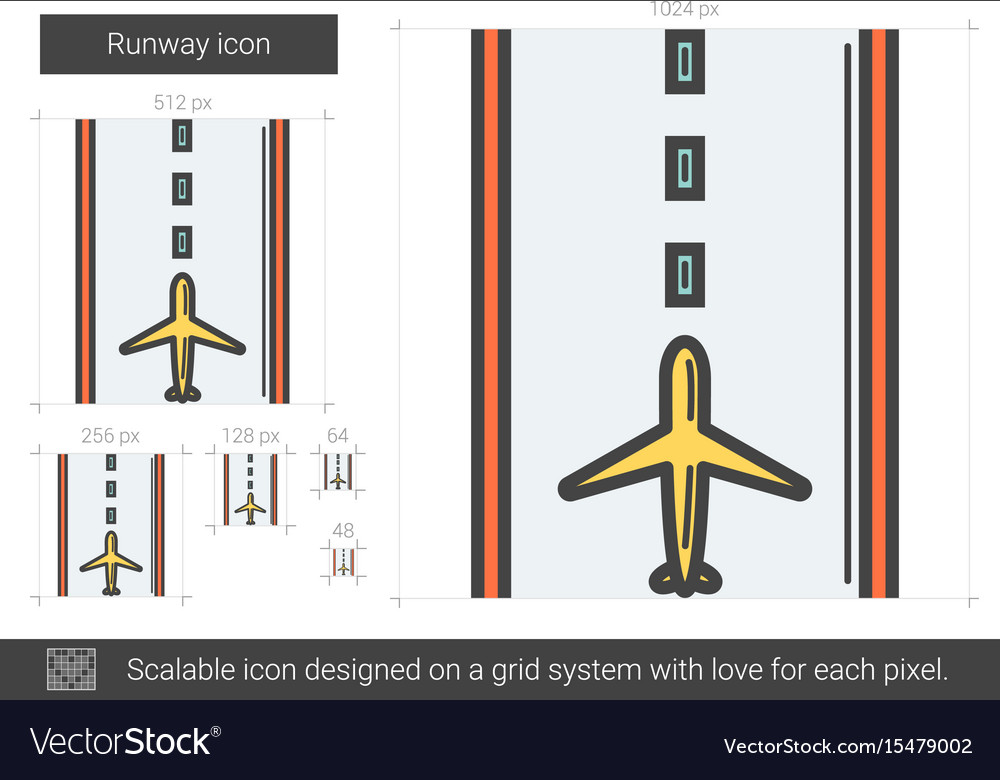Runway line icon vector image