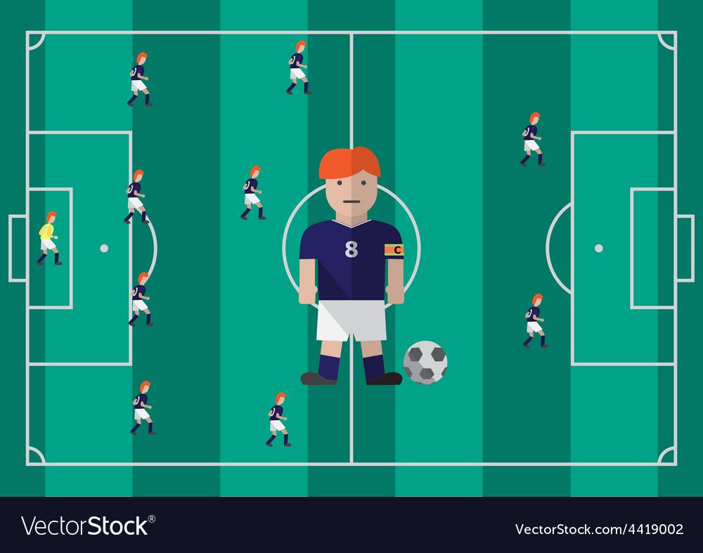 Soccer captain flat graphic