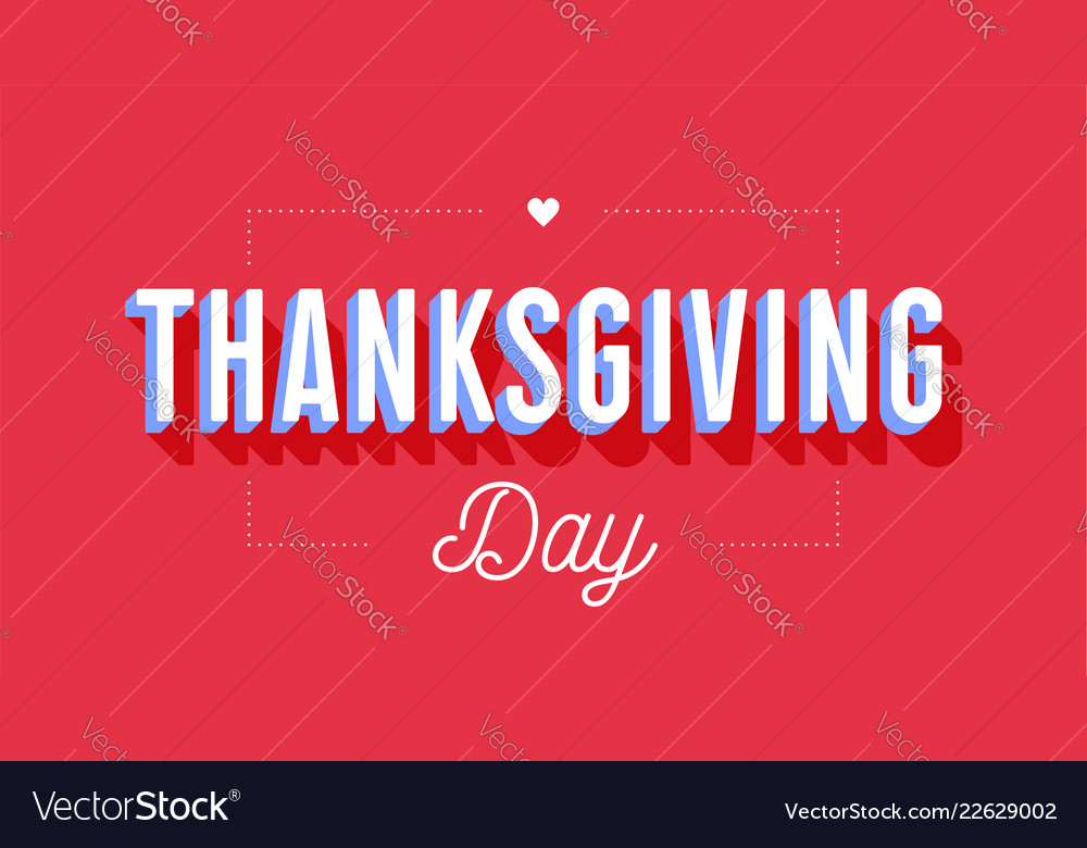Thanksgiving day greeting card with text