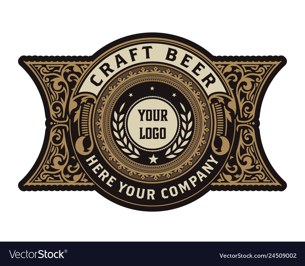 Vintage beer label for packing