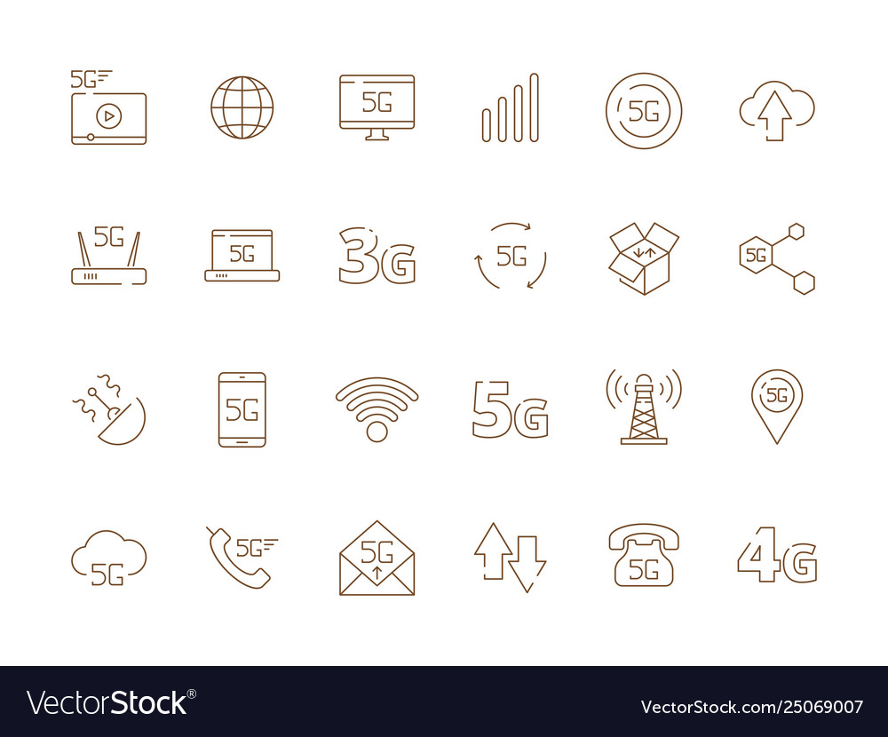 5g icons internet mobile safety wireless 4g